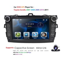 Hizpo Car Radio Multimedia Video Player Mirror Link For Toyota Corolla E140/150 2008 2009 2010 2011 2012 2013 No Android 2 DIN