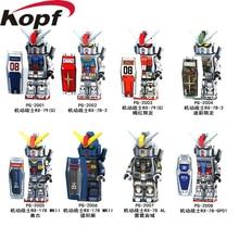 Single Sale Super Heroes Mobile Suit Armour Seed Destiny RX-178 MK-11 RX79 RX-78-2 Bloques de construcción Juguetes de regalo para niños PG8112