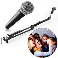Mic Microphone Suspension Boom Scissor Arm Stand Holder For Studio Broadcast Promotion C1