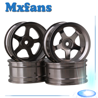 4 PCS Aluminum Alloy Wheel Felloe RC 1 10 On Road Rimmer Black Wheel Rims