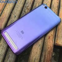 Gradiente de estuches coloridos para Xiaomi Redmi 6 6A Pro 5A 4A Ultra-delgada suave TPU caja del teléfono Carcasa protectora para Xiaomi Redmi 4A 5A 6A