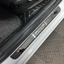 Car-styling Stainless Steel Scuff Plate Door Sill Cover For FIAT 500X Car Accessories 4PCS