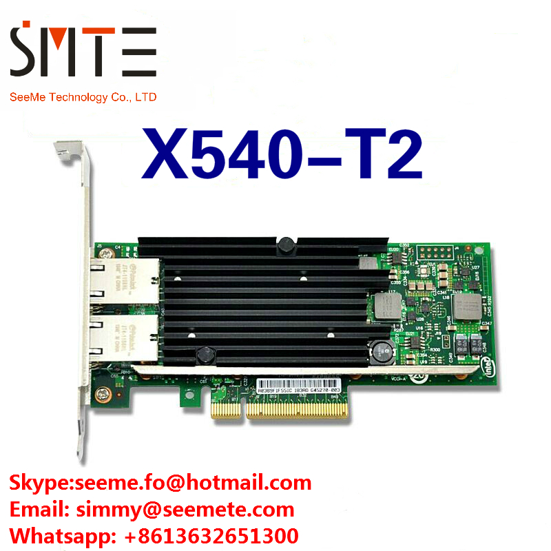 X540-T2 10g dual RJ45 Puerto pci-e adaptador de red Ethernet compatible con Intel
