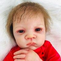50 см мягкие силиконовые Reborn baby doll Игрушки для игрушечного домика игрушки куклы высокого класса реальные reborn прекрасная кукла Мода подарочн
