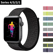 Band For Apple Watch Series 4 40MM 44MM Nylon Soft Breathable Replacement Strap Sport Loop for iwatch series 3/2/1 38mm 42mm ashei strap for apple watch band 42mm woven nylon series 3 38mm classic buckle replacement strap for iwatch series 2 series 1