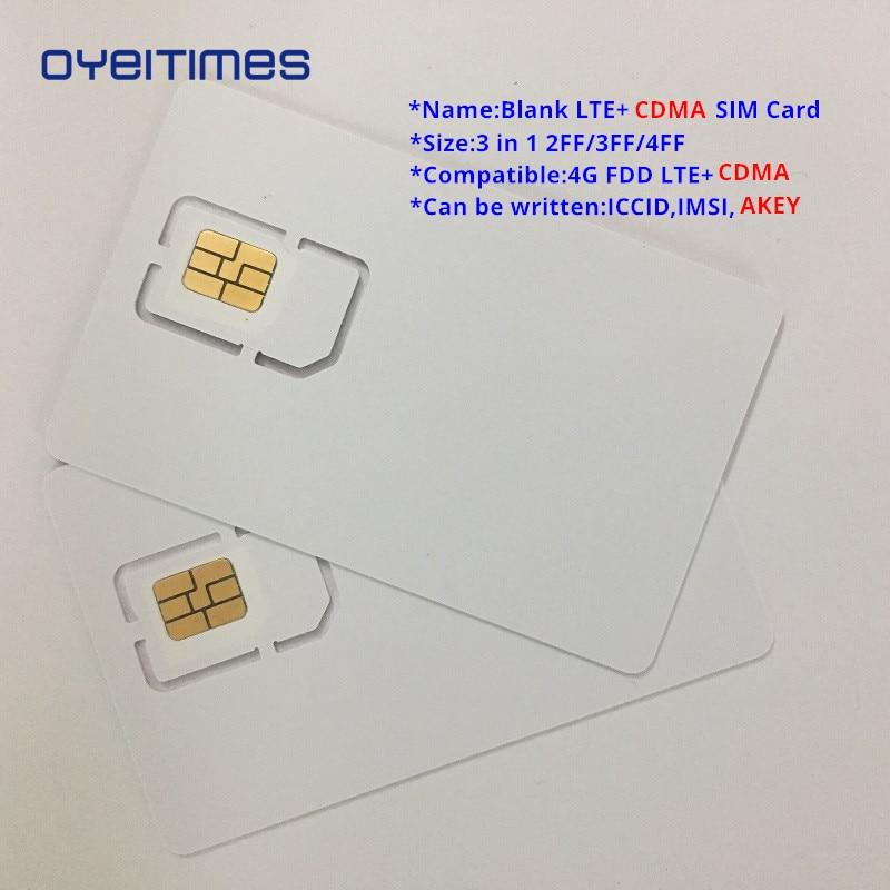 OYEITIMES Blank LTE+CDMA SIM Cards 4G FDD Card Programable Mini,Micro and Nano