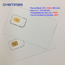 OYEITIMES Blank LTE+CDMA SIM Cards 4G FDD Card Programable Mini,Micro and Nano