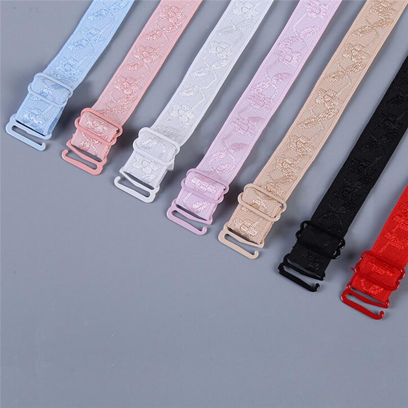 1 Pair 34cm Colorful Slip Resistant Bra Straps Women Double Shoulder Elastic Bra Strap Accessories