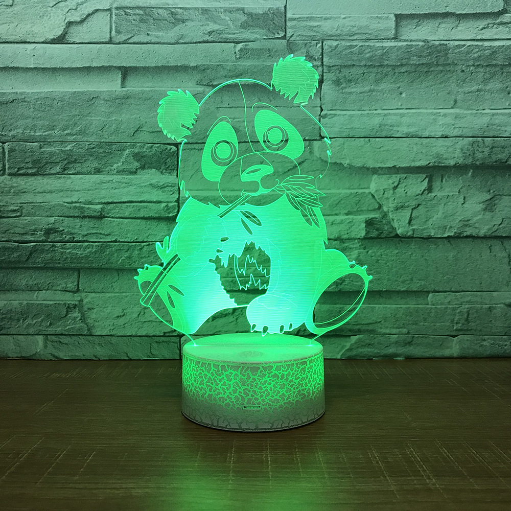 Panda 3D LED RGB Night Light <font><b>7</b></font> Color Change Desk Light Action Figures <font><b>280</b></font> Boys Girls Christmas Toys image