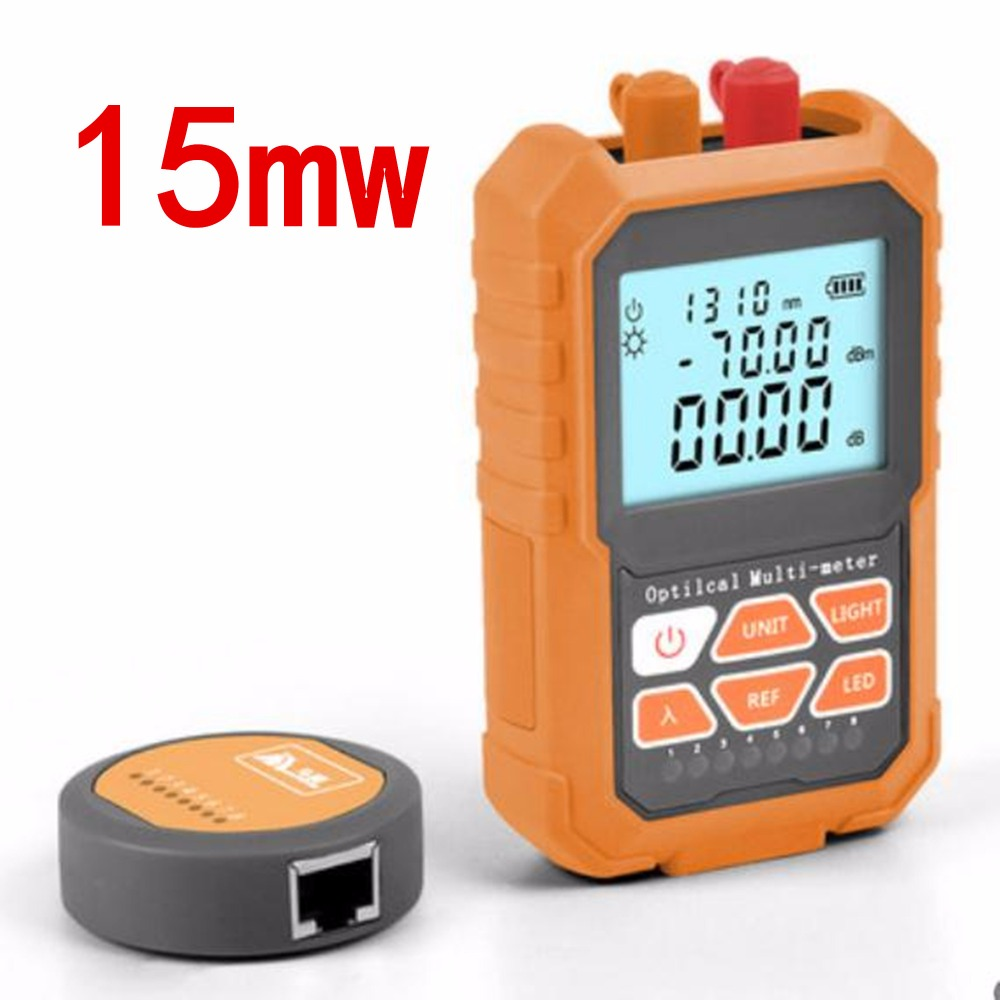 3in1 Optical Power Meter Visual Fault Locator Network Cable Test optical fiber tester 15mw Visual Fault