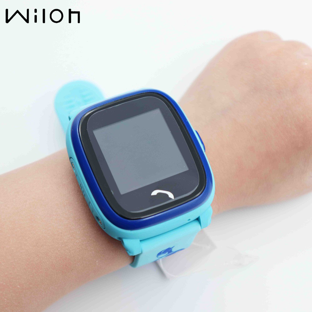 New GPS Tracker Watch For Kids Swim Touch Screen Waterproof SOS Emergency Call Location Wearable Devices For Smart DF25