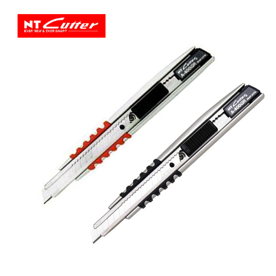 Japan NT CUTTER A-400GRP slip metal knife film leather cutting knife japan ohto ceramic paper cutter cp 25 pen knife wearable durability [do not force the cutting] 1pcs