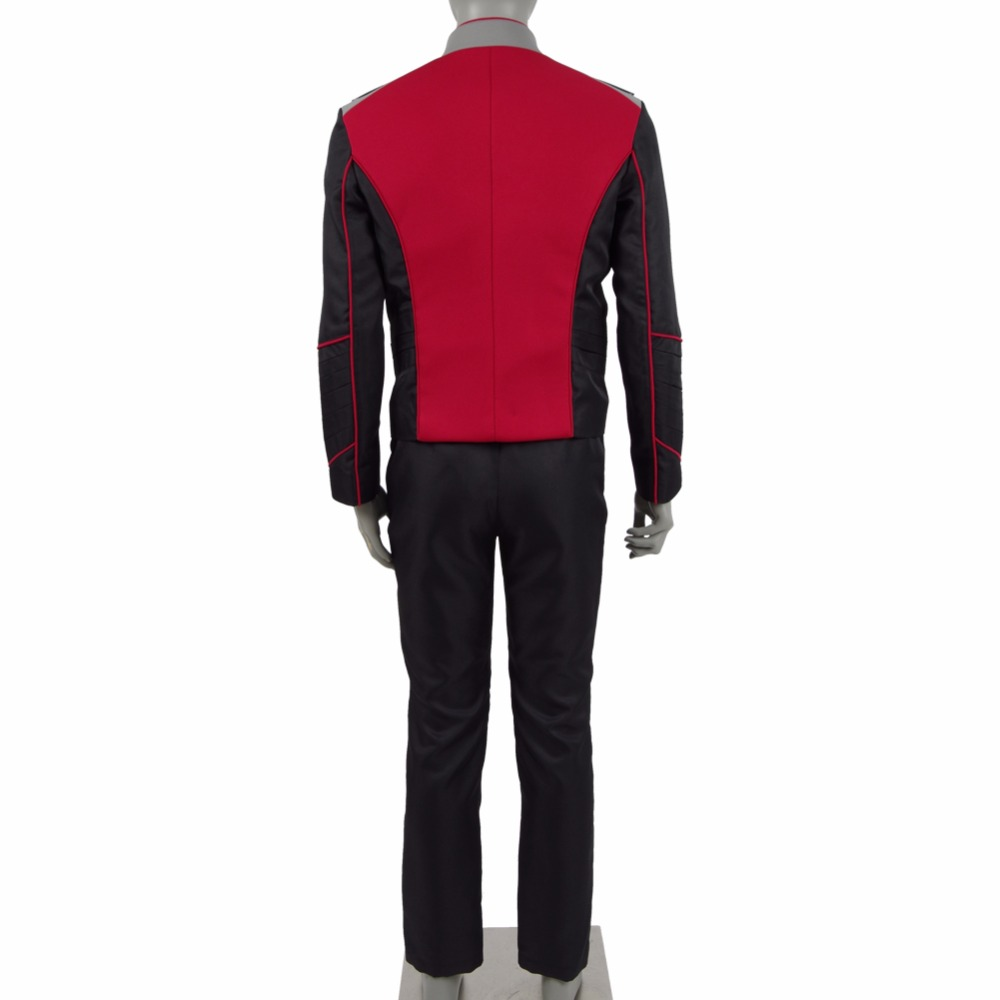 Image 3 - The Orville Security Department Alara Kitan Uniform Cosplay Costume 2017 Starfleet Red Lieutenant Halloween Duty Outfit-in Movie & TV costumes from Novelty & Special Use