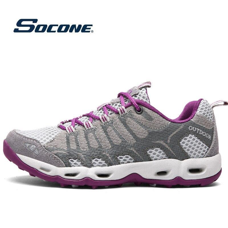 Outdoor Sports Shoes Women Running Sneakers Cushioning Running Shoes Pink Purple Women Walking Camping Light Trekking Sneakers