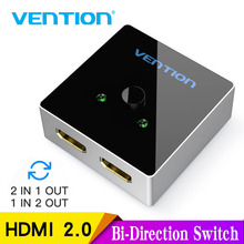 Vention HDMI Switch Bi-Direction 2.0 4K Switcher 1x2/2x1 Adapter 2 in 1 out Converter for PS4 Pro/4/3 TV Box Splitter