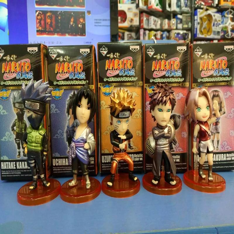 5pcs/set Naruto Sasuke Sakura Kakashi Gaara PVC Action Figure Collectible Model Toy 7cm KT3525 1