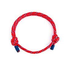Мужской очаровательный плетеный браслет из веревки 550 Паракорда