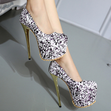 Fashion Sexy Thin Heels Women Pumps Sequin High Heels Women Shoes Sandals  2 colors SIZE 34-40