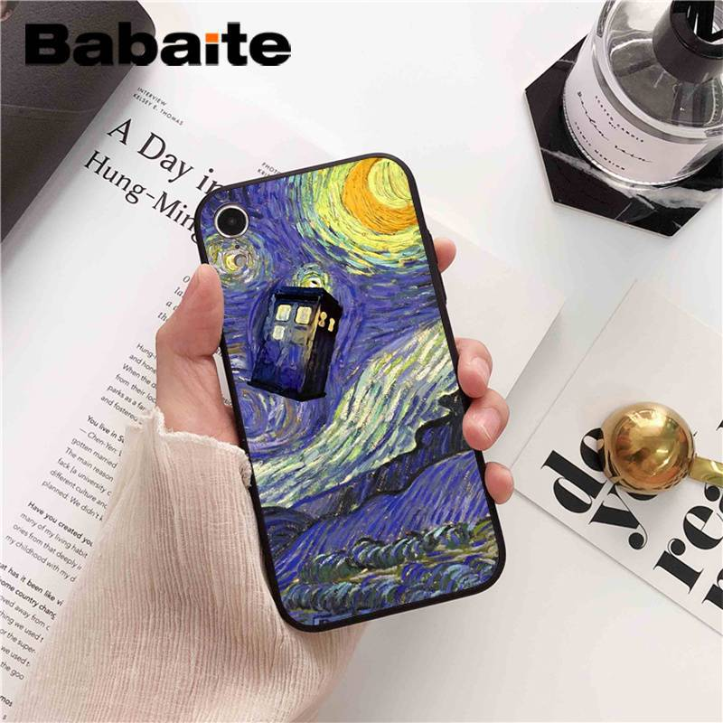 Half-wrapped Case Phone Bags & Cases Babaite Tardis Box Doctor Who Tv Soft Silicone Transparent Phone Case For Iphone 8 7 6 6s Plus 5 5s Se Xr X Xs Max Coque Shell