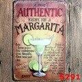 Adesivo decorativo de Metal Tin signs decor placas De Metal do vintage Cocktail MARGARITA ofício da parede da placa do vintage 20X30 CM Livre navio