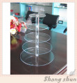 5 Tier Acrylic Cupcake Party Wedding Cake Stand , Acrylic 5 Tier Round Cupcake Stand