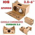 wholesale Google cardboard VR BOX 2.0 Version VR headset oculos Virtual Reality 3D Glasses helmet For 3.5 - 6.0 inch Smartphone