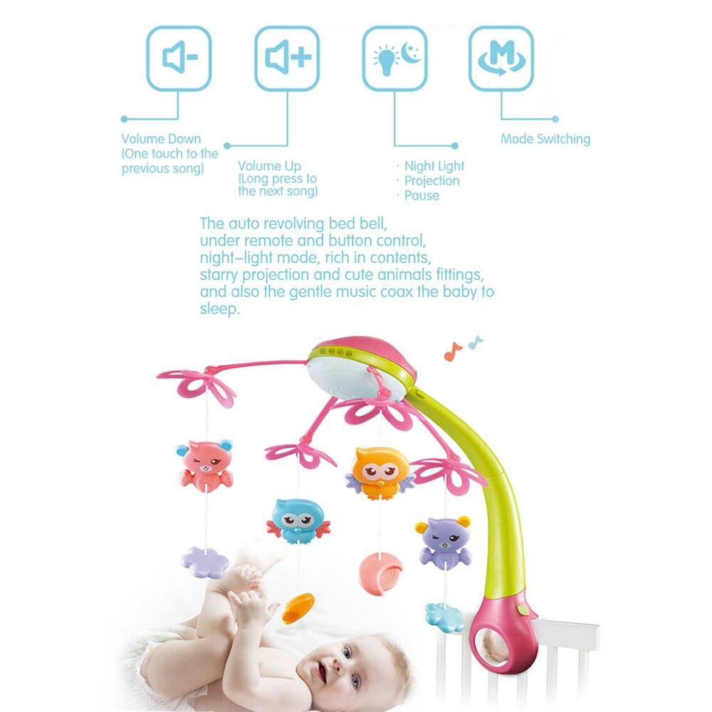 Bébé jouets lit cloche 0-12 mois Animal Musical berceau Mobile suspendus hochets nouveau-né début apprentissage enfants jouet pour bébés - 6