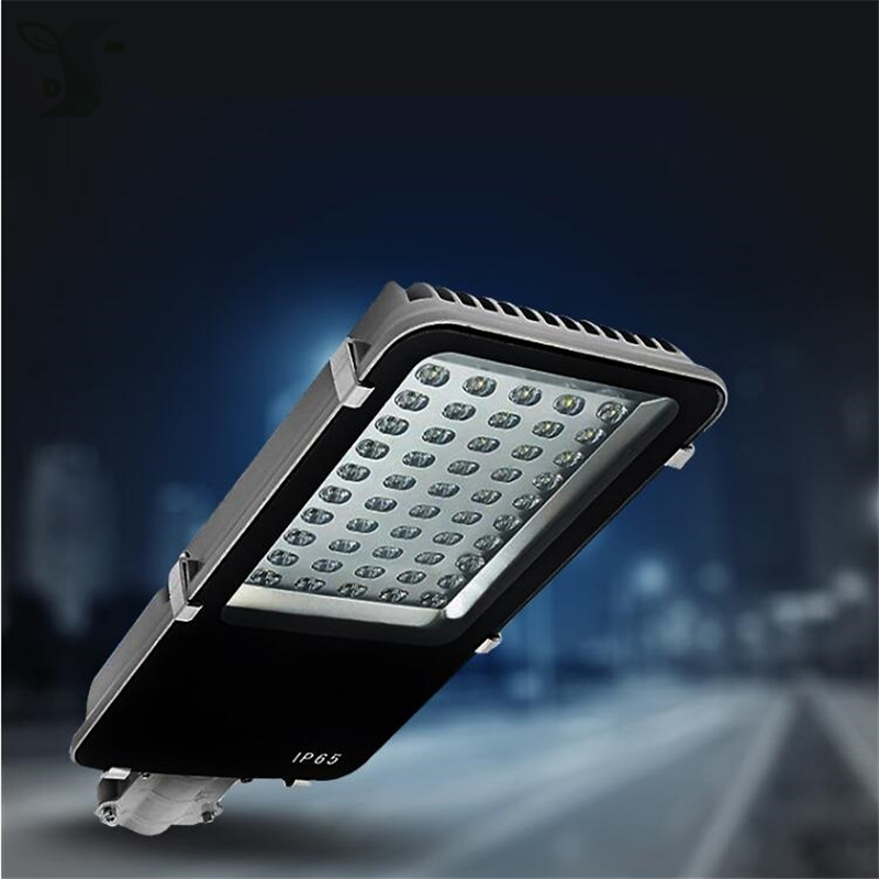 6pcs/lot 30W 40W 50W 60W 80W 100W LED street light AC85 265V 110LM/W Outdoor Waterproof IP65 led light 60mm interface