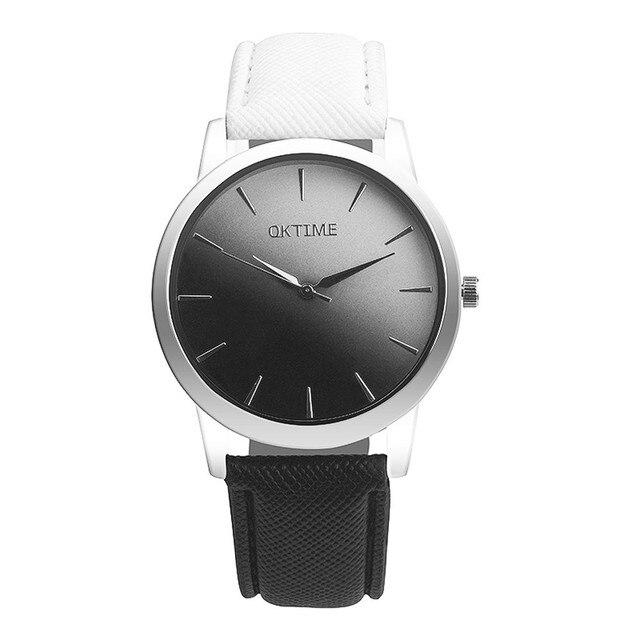 Women Watches Reloj Mujer  Faux Leather  Bracelet  Quartz Wristwatches Classic Casual  Metal Round Case Watch   18FEB5