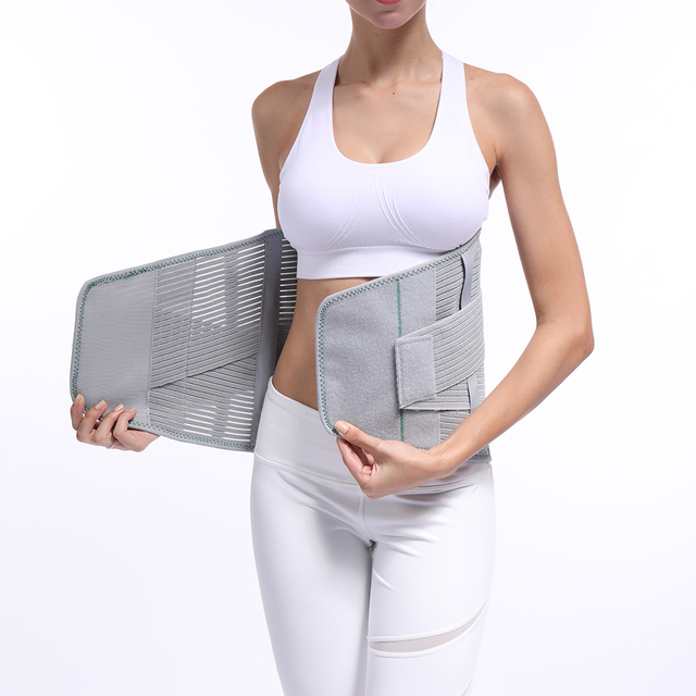 Lumbar Back Spinal Spine Waist Brace Support Belt Corset Stabilizer Cincher Tummy Trimmer Trainer Weight Loss Slimming Belt 2