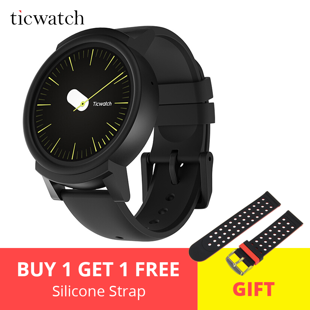 Ticwatch E Expres Smart Watch Android Wear OS MT2601 Dual Core Bluetooth 4.1 WIFI GPS Smartwatch Phone with Sensors Gift Strap