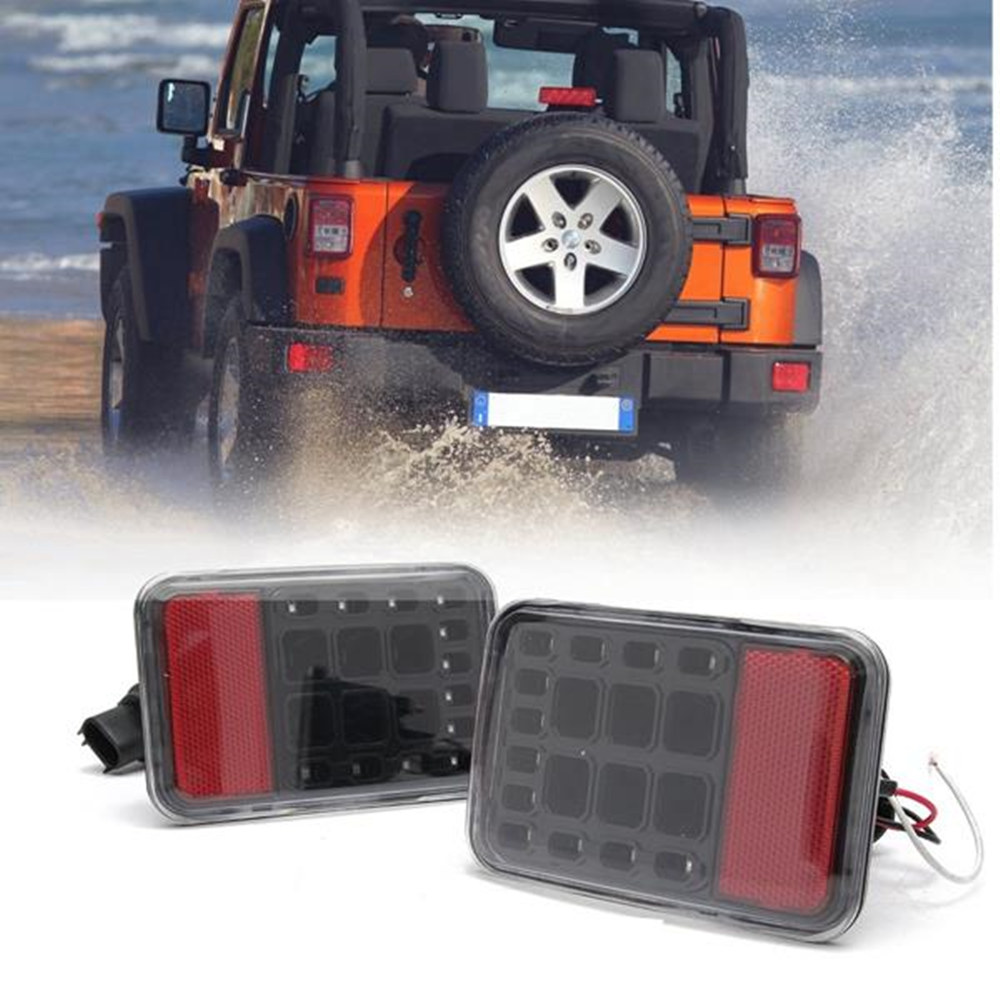 For Jeep Jk Led Lights Rear Bumper Tail light Reversing LED Lights Lamps for Jeep Wrangler JK 2007-2016 Brake Lamp