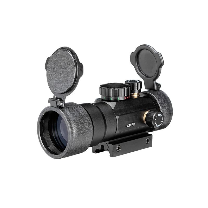 3x40 Vert Red Dot Sight Portée Tactique Optique Lunette Fit Picatinny Rail Mount 20mm 11mm Fusil scopes Pour La Chasse