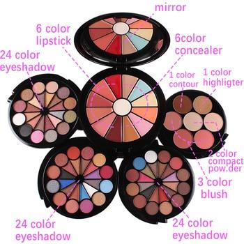 Miss Rose 5 in 1 makeup set 72 shades eyeshadow palette with mirror waterproof long lasting highlighter bronzer sets MS175 Eye Shadow