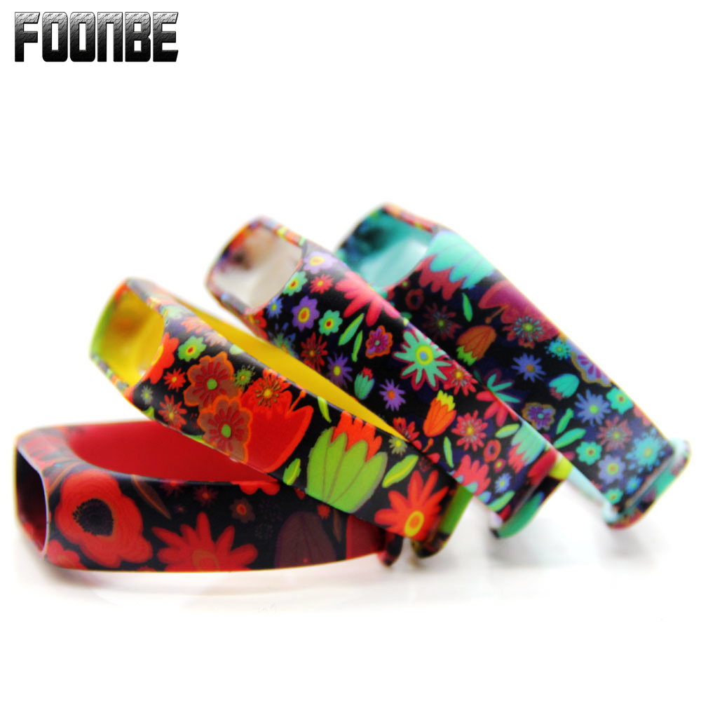 For Mi Band 2 Flower Printed Replace Strap For Xiaomi Silicone Wristbands For MiBand 2 Colorful Bracelet  For Mi Band 2