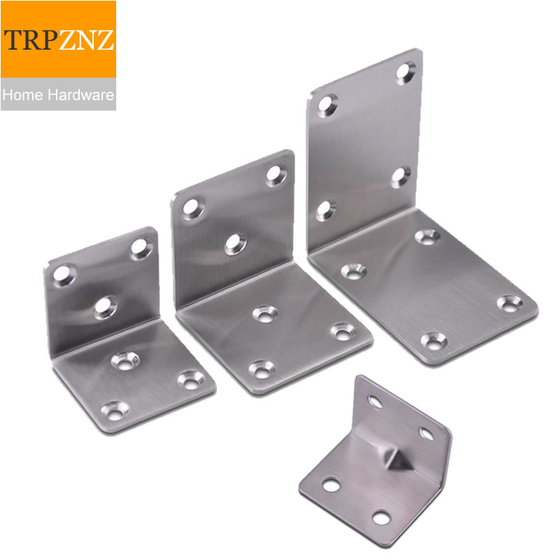 Stainless Steel Furniture Corner Bracket/ Fixed  Connector,Right Angle,Shelf Support,strong,Easy To Install,furniture Hardware