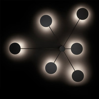 Nordic Creative Postmodern led wall lamp Simple art living room lights atmosphere hallway cafe decoration lights free shipping