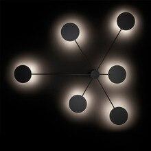 الشمال الإبداعية ما بعد الحداثة وحدة إضاءة led جداريّة مصباح بسيط الفن غرفة المعيشة أضواء جو المدخل مقهى أضواء الديكور شحن مجاني