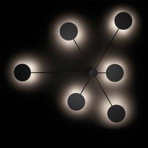 Image 1 - 북유럽 창조적 인 포스트 모던 led 벽 램프 간단한 예술 거실 조명 분위기 복도 카페 장식 조명 무료 배송