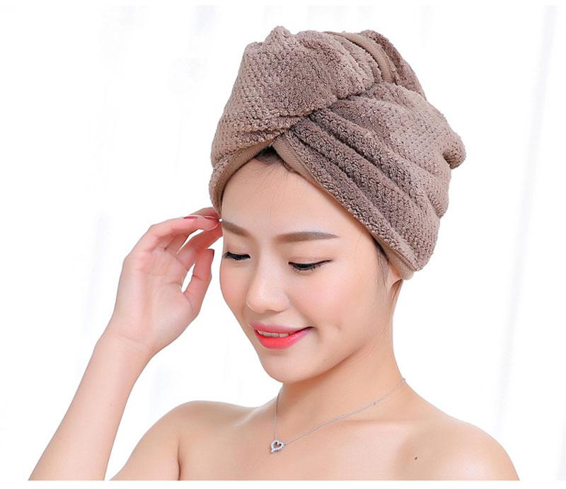 GIANTEX Japanese Polyester Cotton Women Bathroom Super Absorbent Quick-drying Bath Towel Hair Dry Cap Salon Towel 23x60cm U1031 10