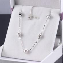 Solid 18K 750 White Gold 1.35 Carats ct  F Color Lab Grown Moissanite Diamond Bracelet Test Positive For Women
