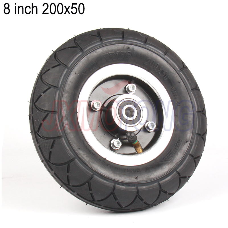 Kamenda Electric Scooter Tyre with Wheel Hub 8inch Scooter 200X50 Tyre Inflation Electric Vehicle Wheel Pneumatic Tire