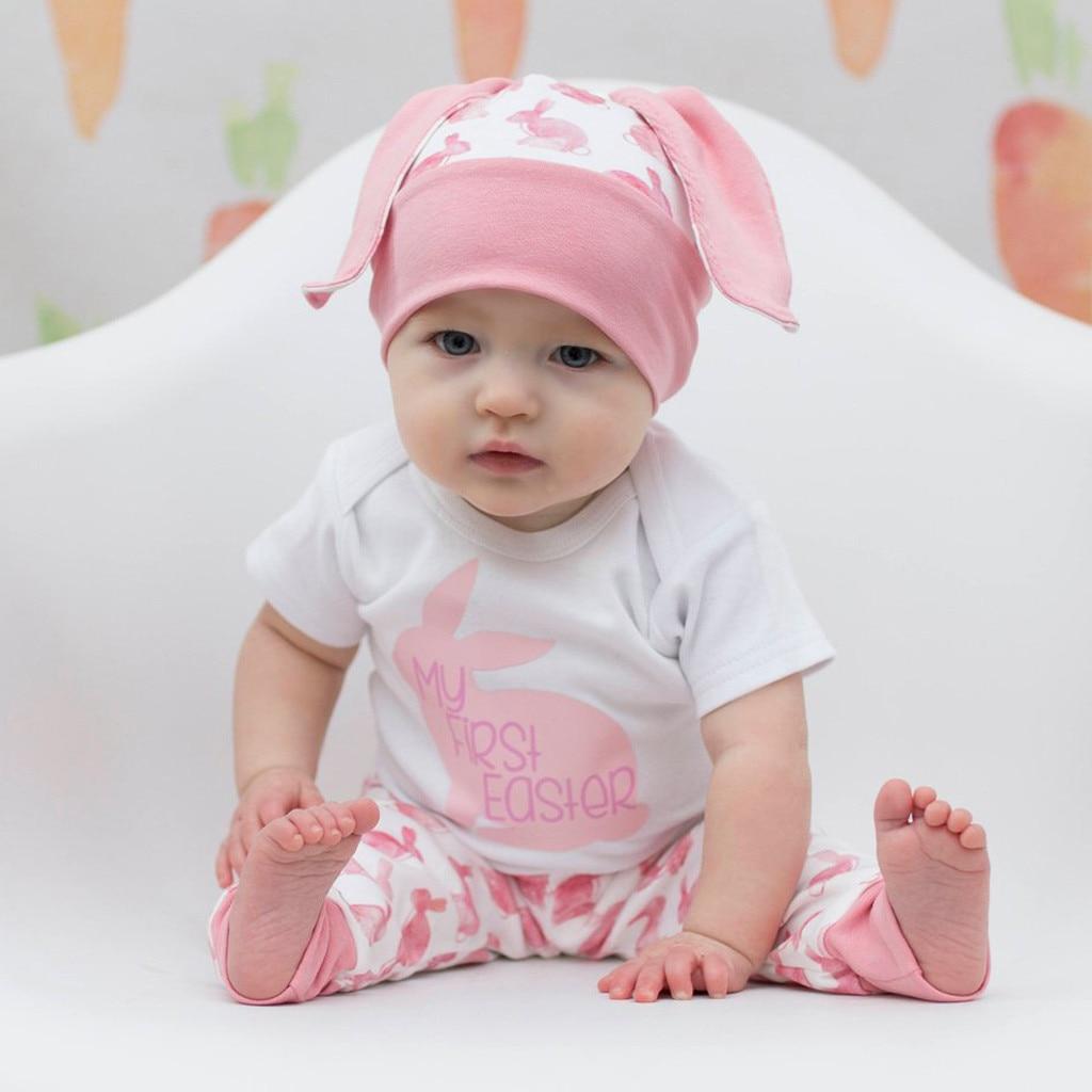 5dc1d186d Detail Feedback Questions about Newborn Baby Girl Boy Cartoon First Easter  3D Bunny Outfits Romper Hat Pants Set children clothes roupa infantil kids  ...