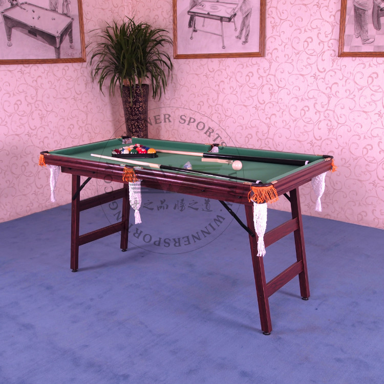 60 Inch Folding American Pool Table Biilard Table Family Using Billard Table  Small Size Foldable Pool