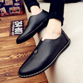 Korean version of men's shoes lazy pedal small business doug shoes men  leather loafers flats shoes