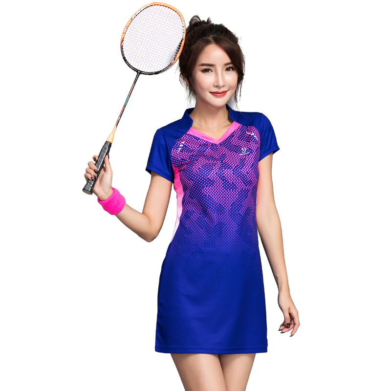 New Tennis Badminton Dress for Women Quick-drying Cultivate One's Morality Show Thin Badminton Suits with Short Pants free shipping tall waist elastic hole cowgirl of cultivate one s morality show thin women s jeans