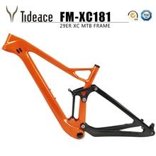 цена на Full suspension mtb frame  XC carbon mountain bike frame 29er mtb suspenion carbon frame 29er plus/27.5er plus suspension frame