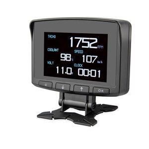 Image 3 - A208 OBD2 קירור טמפרטורת מד אבחון כלי מדחום דיגיטלי שעון DC12 24V רכב שעון מד מתח מתח Tester
