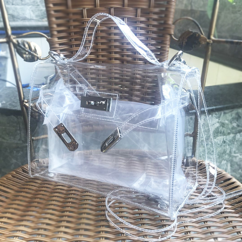 Luxury Handbags Women Bags Designer Waterproof Transparent Bag PVC  Beach Bag Ladies Shoulder Bag Bolsos Mujer Sac A Main