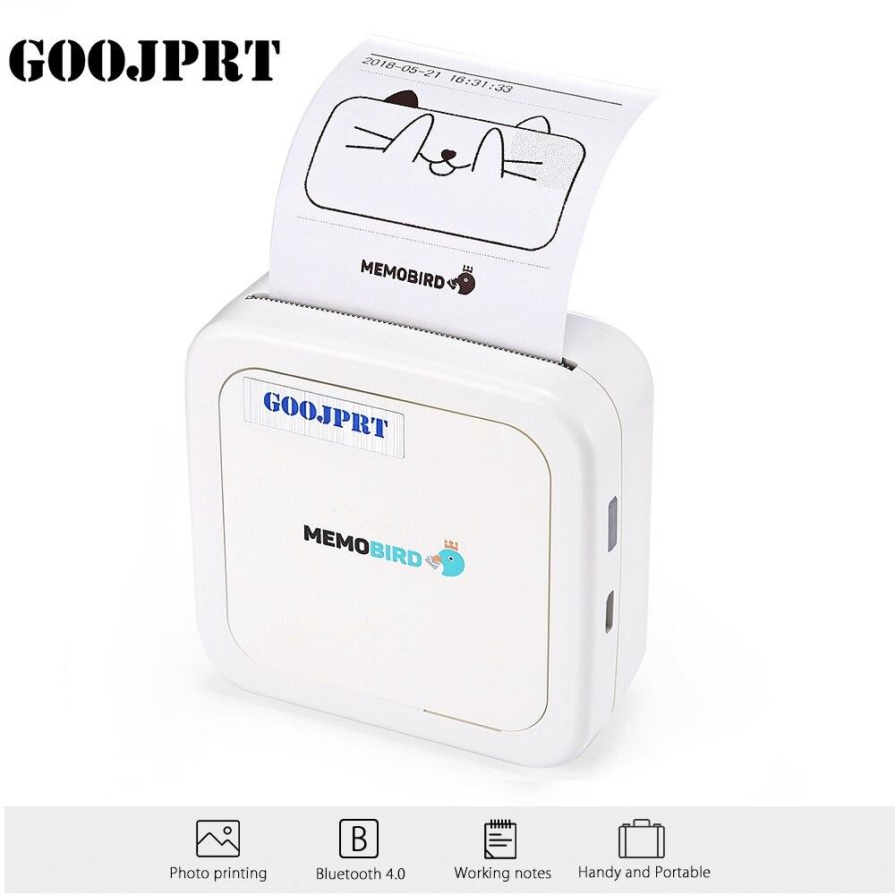 GOOJPRT G3 MEMOBIRD Mini Bluetooth Imprimante Thermique Papier Photo Imprimante Thermique Impression pour iOS et Android